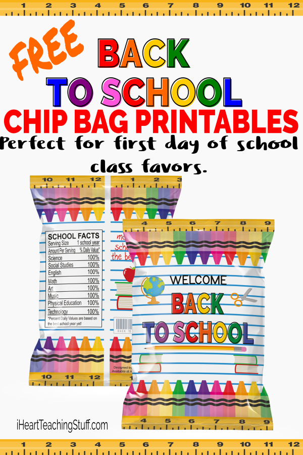 image about All That and a Bag of Chips Printable referred to as No cost Again toward College or university Prefer Chip Bag Printable - I Center