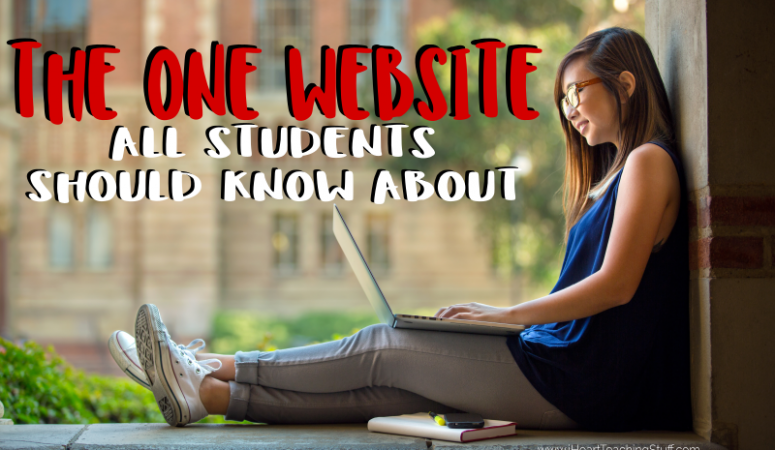 Find out the one website all students should know about before applying for colleges. Find out at I Heart Teaching Stuff.