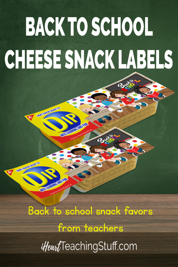Free Back to School Printable Labels for Snack Favors by i Heart Teaching Stuff